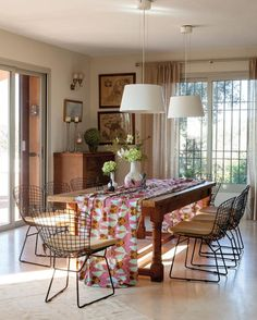 Large window & the fascinating chairs..Love