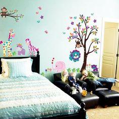 Nursery room Wall Decal -Kid Trees Wall Vinyl- Children Vinyl Sticker - WallDecal