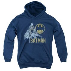 Batman - Knight Watch Youth Pull Over Hoodie