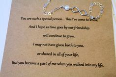 Step Daughter Infinity Bracelet with Card! Giving this to #Mariah and #Emma when they turn 13 <3 Teenagers <3