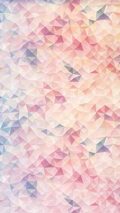 Parallel Wallpaper: The contrast between the sharp angles and soft pastel colors…