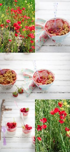 ... The scent of poppy flower sugar and a roasted rhubarb sherbet recipe