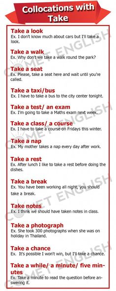 English speakers use TAKE in many different situations, learn some of them here – Grammar English Time, English Verbs, English Course, English Phrases, English Fun, English Study, English Lessons, English Grammar, Learn English Free