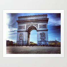 PARIS Arc de Triomphe Art Print by WAMTEES - $17.68