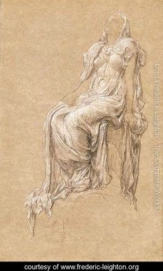 Study for 'The Spirit of the Summit'  Lord Frederick Leighton