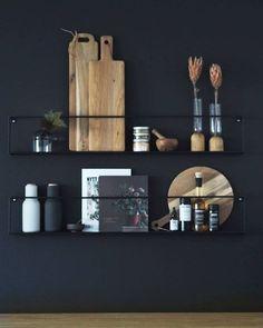 Det må være denne delen av kjøkkenet mitt jeg e. Home Interior, Kitchen Interior, Kitchen Decor, Interior Design, Home Design, Kitchen Rack, Design Kitchen, Diy Kitchen, Kitchen Storage