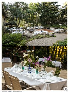 Another angle of the wedding reception area at this Stonehedge Garden's Wedding