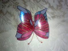 Бабочка из пластиковой бутылки.  Butterfly out of a plastic bottle. - YouTube