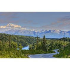 Scenic View Of Mt Mckinley And The Parks Highway Denali National Park Near The Princess Lodge Hdr Image Canvas Art - Michael Criss Design Pics (38 x 24)