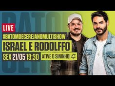 🔴 LIVE: ISRAEL E RODOLFFO | #BatomDeCerejaNoMultishow | Música Multishow - YouTube Show Ao Vivo, Video Clip, Israel, Broadway, Live, Youtube, To Suffer, Musica, Youtubers