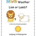 **Newly Updated* 2/3/13 with March Weather Color Picture Cards for Predicting and Retelling in Pocket Chart. Included are March Ending Sounds and M...