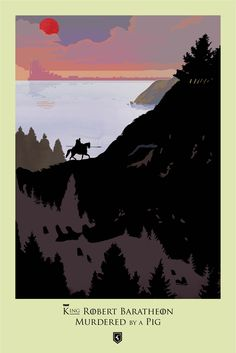 Game of Thrones Season 1 × Episode 7  ‪#‎BeautifulDeath‬ episodic series, illustrated by Robert Ball