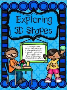 This pack is great for an introduction to the 3D shapes cone, cube, cylinder, sphere, and rectangular prism.Includes: Shape poster, 2 emergent readers, shape report posters, spinner game (2 different recording sheets), 3d Shape building project materials.