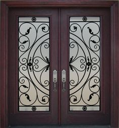 double front exterior doors fiberglass | Iron Entry Doors Iron Front Doors Wrought Iron Doors Wrought | Home ...