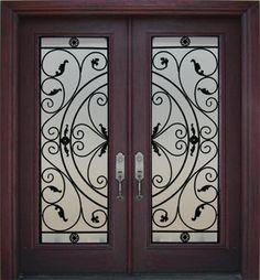double front exterior doors fiberglass | Iron Entry Doors Iron Front Doors Wrought Iron Doors Wrought | Home ...