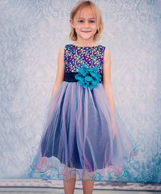 Loving this Teal Sequin Overlay Dress - Toddler & Girls on #zulily! #zulilyfinds