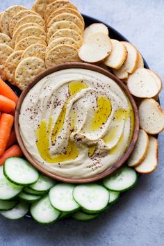Roasted Garlic Hummus with Feta Cheese
