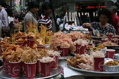 Korean street food (Myeong Dong)