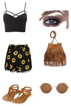 """""""Summer outfit"""" by idamariahaapanen on Polyvore featuring Charlotte Russe, Topshop, H&M, Sunday Somewhere and plus size clothing"""
