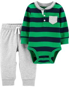 Newborn Carters 2 Piece Navy with Green Dinosaur Full Zipper Jacket and Pant Set