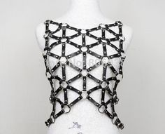 2015 Sexy Black Halter Women Costumes Adjusted Fashion PU Cage Vest Leather Bondage Harness Body Cage Bondag Garter