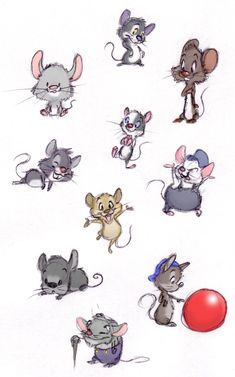 Mouse Practice by ShoJoJim.deviantart.com on @deviantART ★ || CHARACTER DESIGN REFERENCES (www.facebook.com/CharacterDesignReferences & pinterest.com/characterdesigh) • Do you love Character Design? Join the Character Design Challenge! (link→ www.facebook.com/groups/CharacterDesignChallenge) Share your unique vision of a theme every month, promote your art, learn and make new friends in a community of over 16.000 artists who share your same passion! || ★