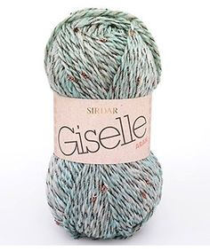 Add a little sparkle to your life with Giselle.  43% wool, 43% acrylic, 14% polyester available at www.ariverofyarn.ca
