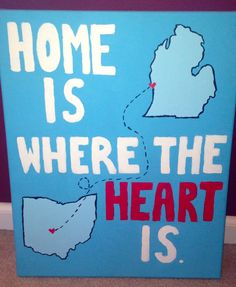 home is where the heart is. Would love to do something like this, with Wisconsin instead of Michigan of course