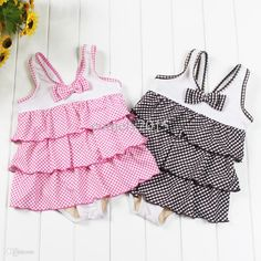 Wholesale-Cheap Girls Summer One-piece Bow Knot Swimwear Sleeveless Dots Printed Swimsuits Cute Summer Wear Online with $21.75/Piece on Comely2015's Store | DHgate.com Girls Fancy Dresses, Summer Dresses, Summer Wear, Summer Girls, Swimsuits, Swimwear, Knot, One Piece, Bows