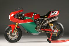 30th anniversary NCR Mike Hailwood TT. Replica of the bike Mike rode to win the Isle of Man TT in 1979. 130hp, ($136,000). If I had to pick one dream bike this is probably it.