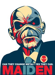 - EDDIE of Iron Maiden ~ Politician Poster - #music #artwork #Eddie #Ironmaiden #posterart #musicart http://www.pinterest.com/TheHitman14/eddie-of-iron-maiden-fame/