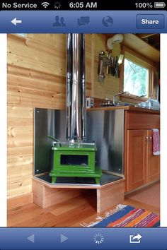 The perfect size stove to keep things cosy :)