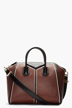 GIVENCHY Medium Brown Vintage Leather Patchwork Antrigona Duffle - I love this bag in every color and style Givenchy has created