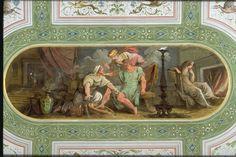 Euriclea riconosce Ulisse ( 1802 ) Felice Giani - Palazzo Milzetti, Faenza