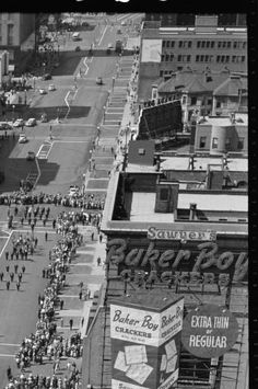 Memorial Day parade, North Michigan Avenue, Chicago, May 1948 :: Daily Life Along the Chicago Burlington and Quincy Railroad (Newberry Library)