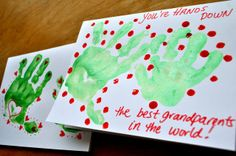 My Merry Messy Life: Easy Kids' Hand Print Valentine's Day Card