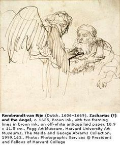 Rembrandt, drawing - bringing the idea into reality, like magic