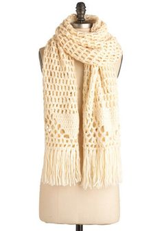 love the open airy look of crochet scarves