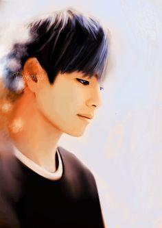 Orange soul pt 2 - melancholy Kim Taehyung fanart  by Dihanabi  #taehyung #taehyungfanart #btsfanart #vkook #taekook #vkookfanart