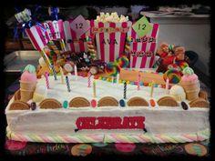 Sugar Rush Speedway Birthday Cake Starring Wreck It Ralph and Vanellope Von Schweetz