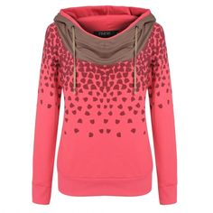Finejo Korean Women Fashion Lady Loose Casual Leisure Hoodies Pullover Print Sweatershirt $12,49