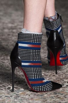 Christian Louboutin for Stella Jean Boots Fall 2014 Ethical Fashion Initiative #CL #Louboutins