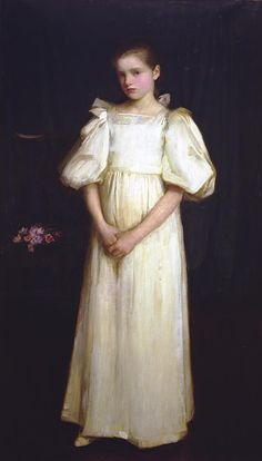 Portrait of Phyllis Waterlow, 1895 by John William Waterhouse (English 1849-1917)