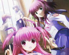 Anime Angel Beats!  Kanade Tachibana Yui Yuzuru Otonashi Yuri Nakamura Wallpaper