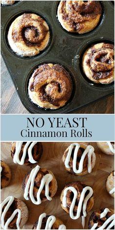 No Yeast Cinnamon Rolls recipe from RecipeGirl.com #no #yeast #noyeast #free #cinnamon #rolls #cinnamonrolls #recipe #RecipeGirl No Yeast Cinnamon Rolls, Recipe Girl, Pastry Blender, Rolls Recipe, Sweet Treats, Easy Meals, Cooking Recipes, Baking, Breakfast