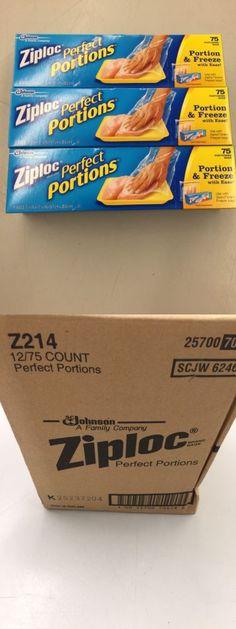 Food Storage Bags 20653 Ziploc Perfect Portions Meat Freezer 75 Count