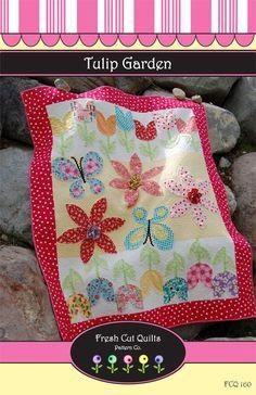Tulip Garden Quilt Pattern fresh cut quilts downloadable pdf