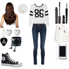 First Day Of 7th Grade! by canifflover on Polyvore featuring polyvore fashion style Ally Fashion rag & bone Victoria's Secret Illesteva Links of London Funk Plus Hershesons Free People Monki Laura Mercier Lord & Berry