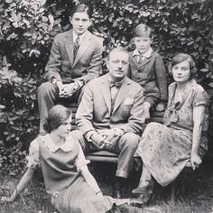 Alexander Girard upper left with His Parents, Brother and Sister in Italy c.1920