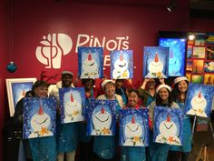 Find a wine and painting event at Pinot's Palette in Alameda for a unique, fun night out or private event venue! Book your painting class today! Team Building Events, Paint And Sip, Painting Studio, Event Venues, Holiday Parties, Night Out, Festive, Folk, Palette
